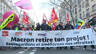 Manifestation à Paris, le 4 janvier 2020.