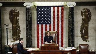 رئيسة مجلس النواب في الولايات المتحدة نانسي بيلوسي