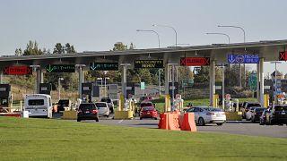 ABD Kanada sınırındaki Blaine'de bulunan Peace Arch Sınır Kapısı