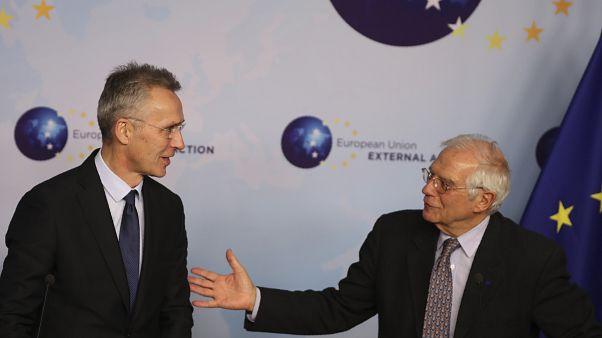 Jens Stoltenberg et Josep Borrell