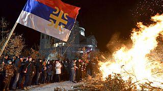 Rendőrkordon mögött ünnepelték az ortodox karácsonyt Montenegróban
