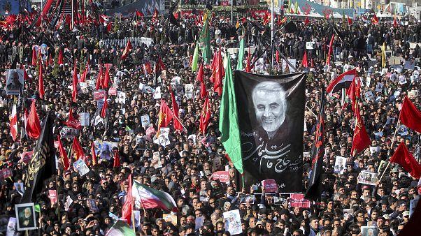 Η κηδεία του Κασέμ Σουλεϊμανί στην γενέτειρά του, Κερμάν