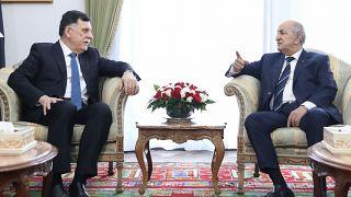 الرئيس الجزائري عبد المجيد تبون حكومة الوفاق الوطني الليبية فايز السراج