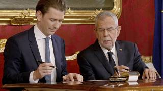 Österreich: Erste türkis-grüne Regierung im Amt