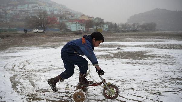 Снежная зима в Кабуле