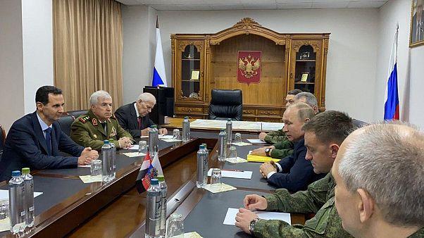 الرئيس الروسي فلاديمير بوتين التقى بشار الأسد في زيارة مفاجئة إلى دمشق