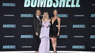 Nicole Kidman, from left, Margot Robbie, and Charlize Theron