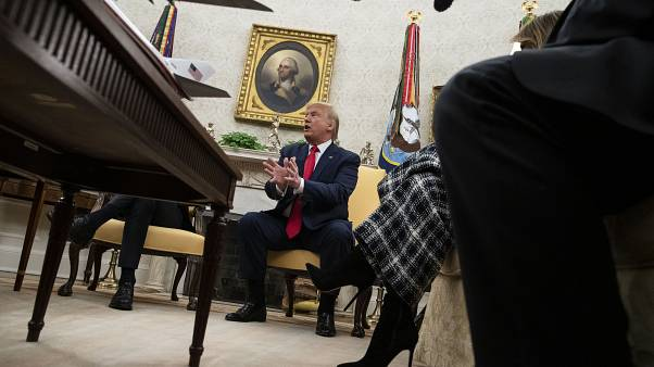 Le président américain Donald Trump dans le Bureau ovale le 07 janvier