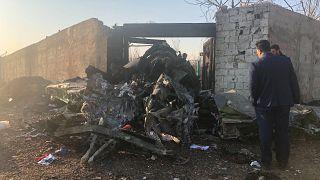 حطام الطائرة الأوكرانية المنكوبة