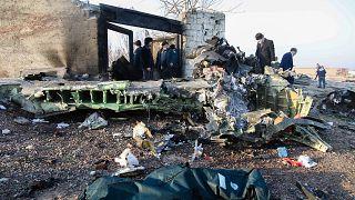 حطام الطائرة الأوكرانية