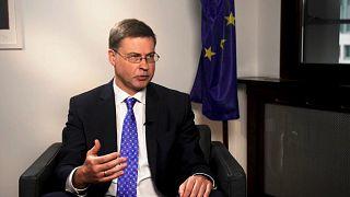 The EU's economy commissioner, Valdis Dombrovskis.