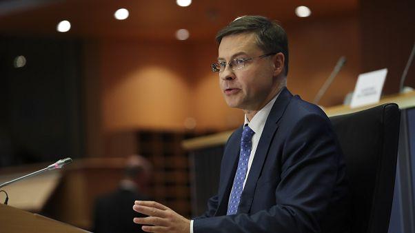 Le vice-président de la Commission européenne Valdis Dombrovskis