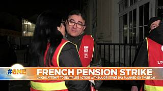 French unions attempt to re-energise pension strike with new action planned for Thursday