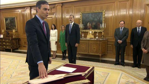 Pedro Sánchez promete el cargo como presidente del Gobierno español