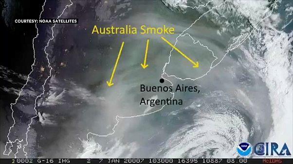 Australischer Rauch zieht 11.000 Kilometer bis Südamerika