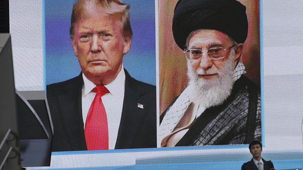 ABD Başkanı Donald Trump ve İran dini lideri Ali Hamaney