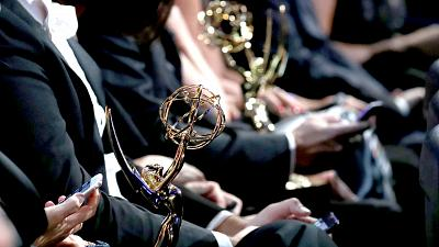 Emmy award statues appear in the audience at night one of the Television Academy's 2018 Creative Arts Emmy Awards