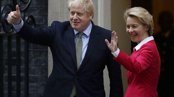 Boris Johnson showed Ursula von der Leyen around 10 Downing Street