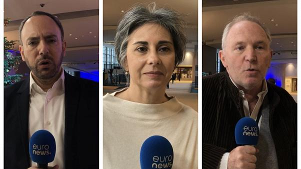 Avrupa Parlamenterleri Sergey Lagodinsky, Bernard Guetta ve İsabel Santos