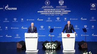 Erdoğan ve Putin TürkAkım'da vanaları açtı: Engellemelere rağmen iş birliğimiz gelişiyor