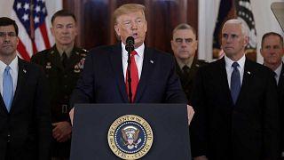 Donald Trump à la Maison Blanche, le 8 janvier 2020