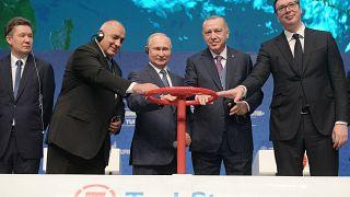 Ostentosa inauguración del gasoducto TurkStream en Estambul