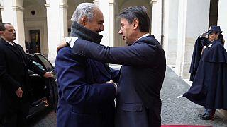 Controvertida visita del mariscal libio Hafter a Italia en plena esclada bélica