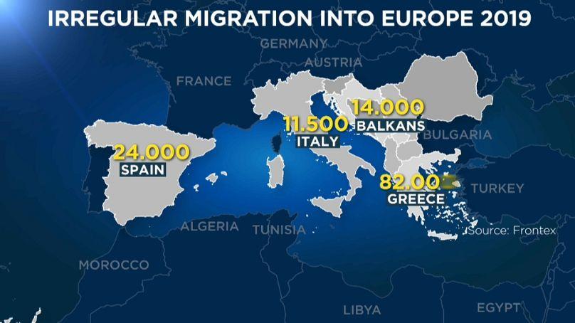 Frontex, numero ingresso migranti piu' basso dal 2013