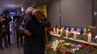 Ukraine airline workers pay tribute to crew killed in Iran crash
