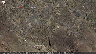 Localisation de la zone du crash du Boeing d'Ukraine International Airlines en Iran.
