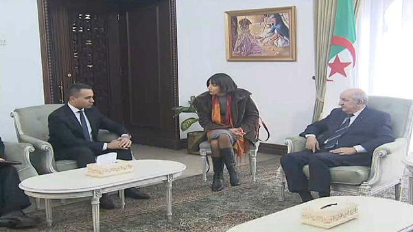 الرئيس الجزائري عبدالمجيد تبون يستقبل وزير الخارجية الإيطالي