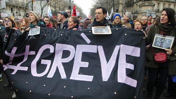 Primera movilización del año en Francia contra la reforma de las pensiones