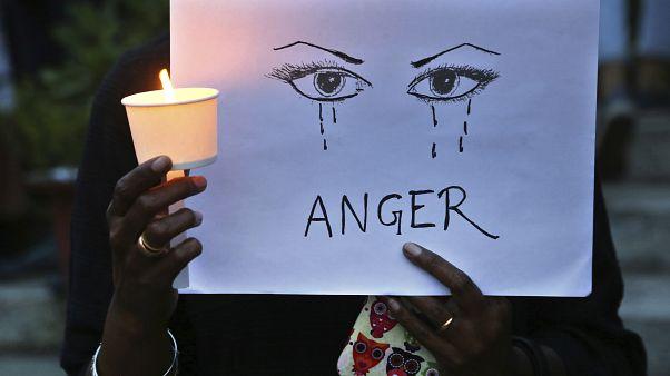 Hindistan'da kadına karşı şiddet protestoları (Arşiv 2018)