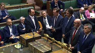 Sesión en la Cámara de los Comunes, en el Parlamento Británico