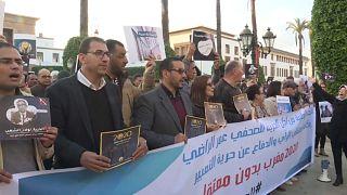 """من تجمع ضد """"حملة القمع"""" في الرباط"""