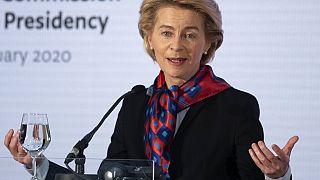 Ursula von der Leyen was speaking in Zagreb, Croatia