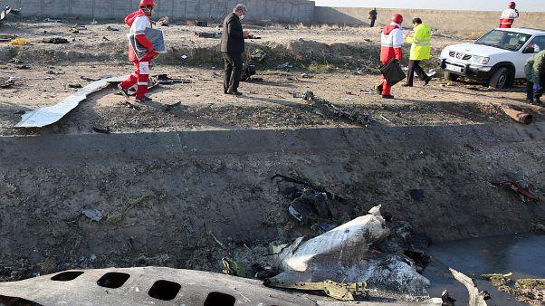 موقع تحطم طائرة الركاب الأوكرانية في طهران