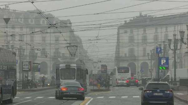 Dicke Smogwolke über ganz Norditalien
