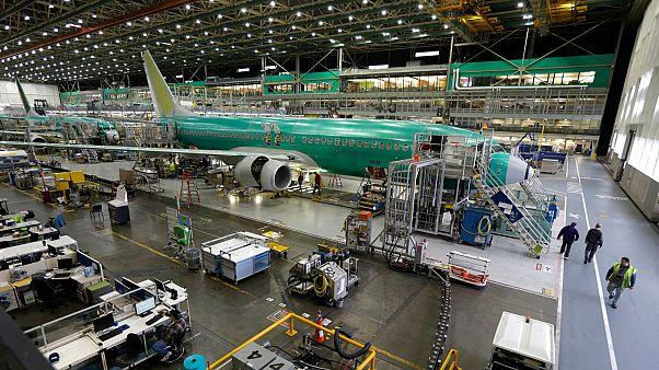 مصنع طائرات بوينغ في واشنطن بالولايات المتحدة الأمريكية