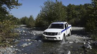 An archive picture of a Greek police vehicle