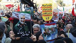 جانب من تشييع جنازة قاسم سليماني في إيران