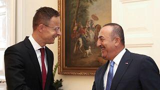 Macaristan Dışişleri ve Dış Ticaret Bakanı Peter Szijjarto ile Türkiye Dışişleri Bakanı Mevlüt Çavuşoğlu (ARŞİV)