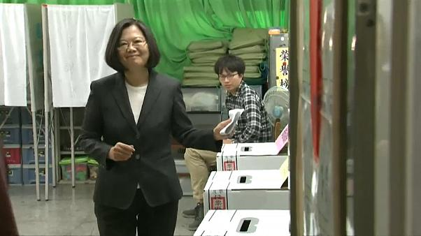 Wahlen in Taiwan: Chinakritische Amtsinhaberin Tsai führt