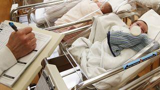 أطفال حديثي الولادة في حضانة مركز التعافي في شمال ولاية نيويورك.