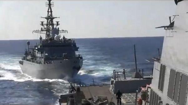 Rus gemisi ile ABD savaş gemisi arasında tehlikeli yakınlaşma