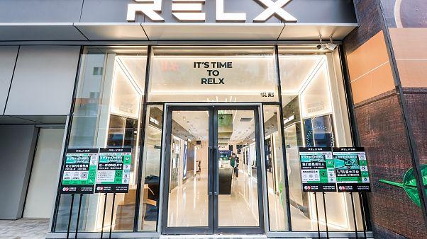 Şanghay'da açılan Relx mağazası