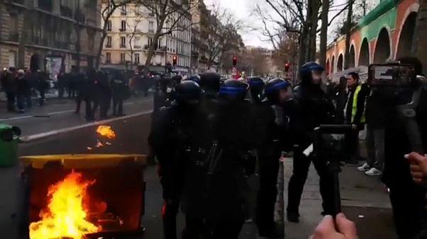 Miles de manifestantes contra la reforma de las pensiones en Francia