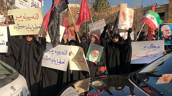 برگزاری تجمع اعتراضی در مقابل سفارت بریتانیا در تهران
