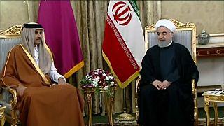 """أمير قطر يؤكد توافق الدوحة وطهران على أن """"تخفيف التصعيد"""" هو """"الحل الوحيد"""" للتوترات في المنطقة"""