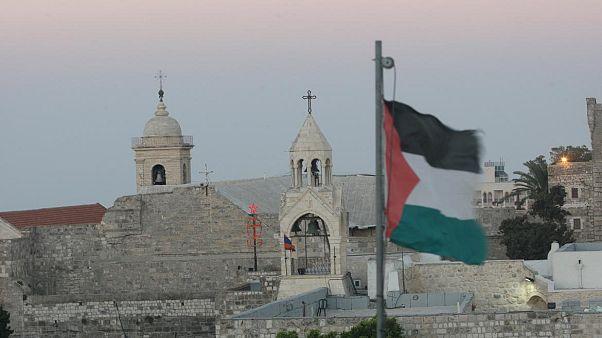 İşgal altındaki Batı Şeria'nın Beytüllahim kentinde yer alan Doğuş Kilisesi (Nativity Church)